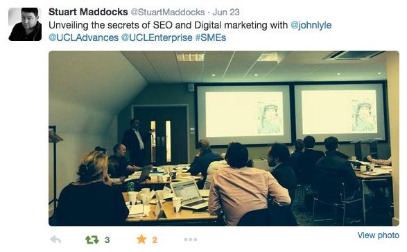 Brand, social media and SEO at UCL London