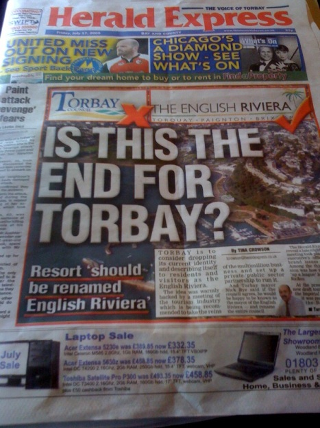 Is this the end for Torbay and is Nottingham the new English Riviera