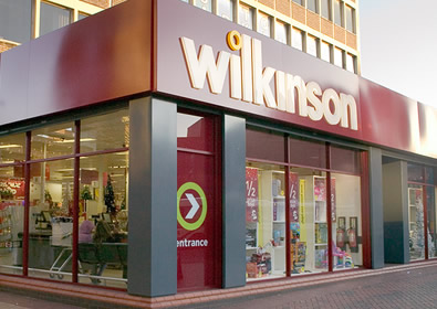 Wilkos store front - like Woolies with evolution