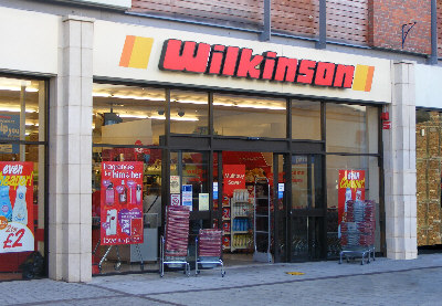 The lovely Old Wilkos storefront