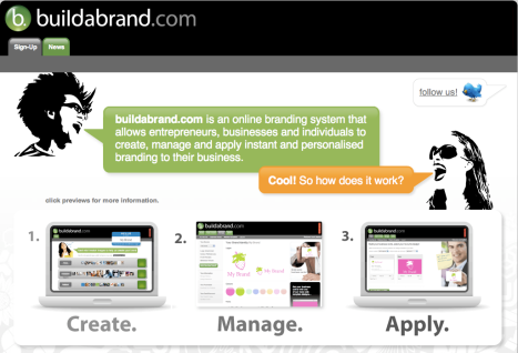 Buildabrand - automatically generated branding?