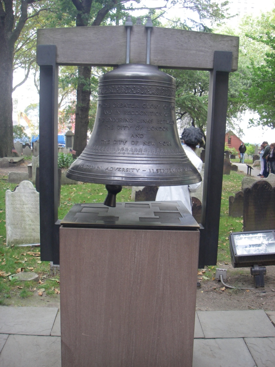The Bell of Hope - A gift from the Uk, in memory of 9/11