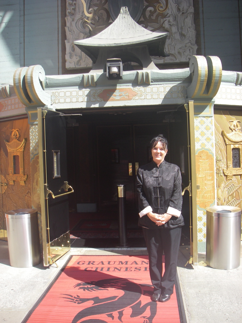 Beverley White, our host at Graumans Chinese theatre