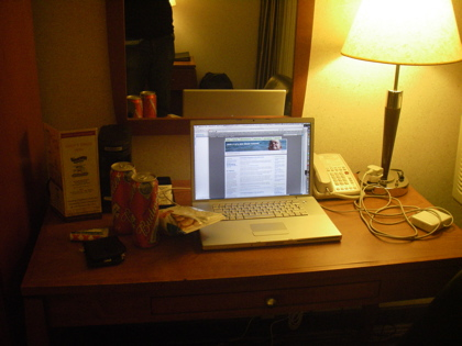 Essential work materials - Budweiser and crisps - an essential for any writer