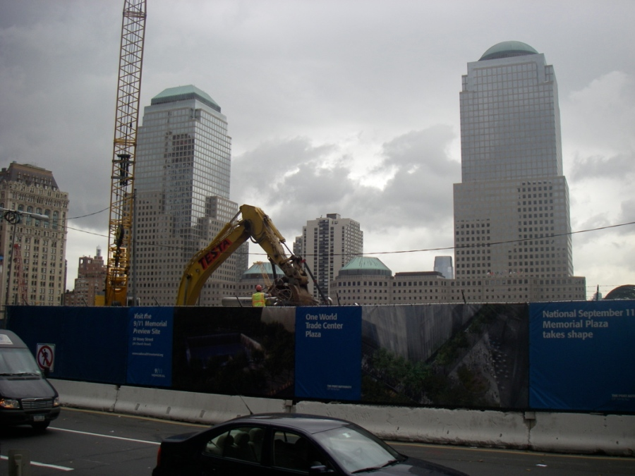 Even now, they're still pulling twisted metal out of the ground at Ground Zero - Its an eerie place