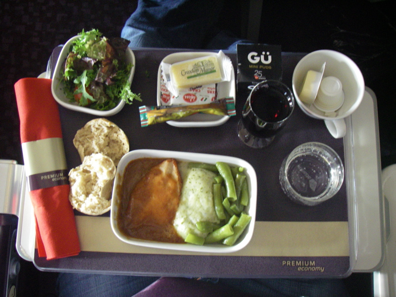 Airplane food - Virgin style