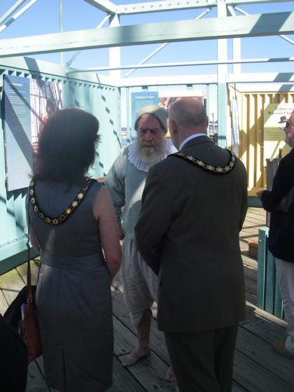 John Coppen, Ships Mate aboard the Mayflower II - He doesn't do shaking hands yet