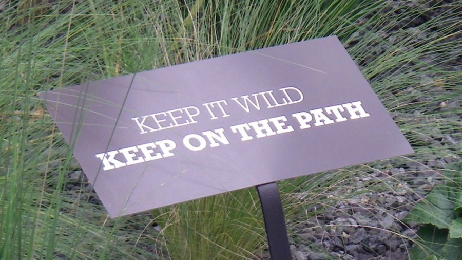 Keep it Wild, Keep on the path