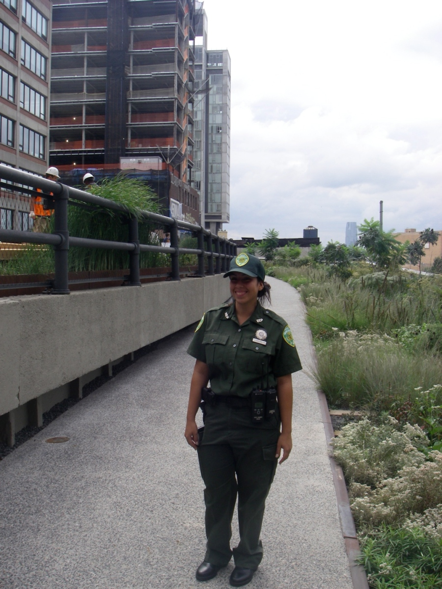 Officer Valentin of the New York Parks Department, who polices the High Line