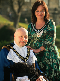 The Sheriff of Nottingham Leon Unczur and his Lady