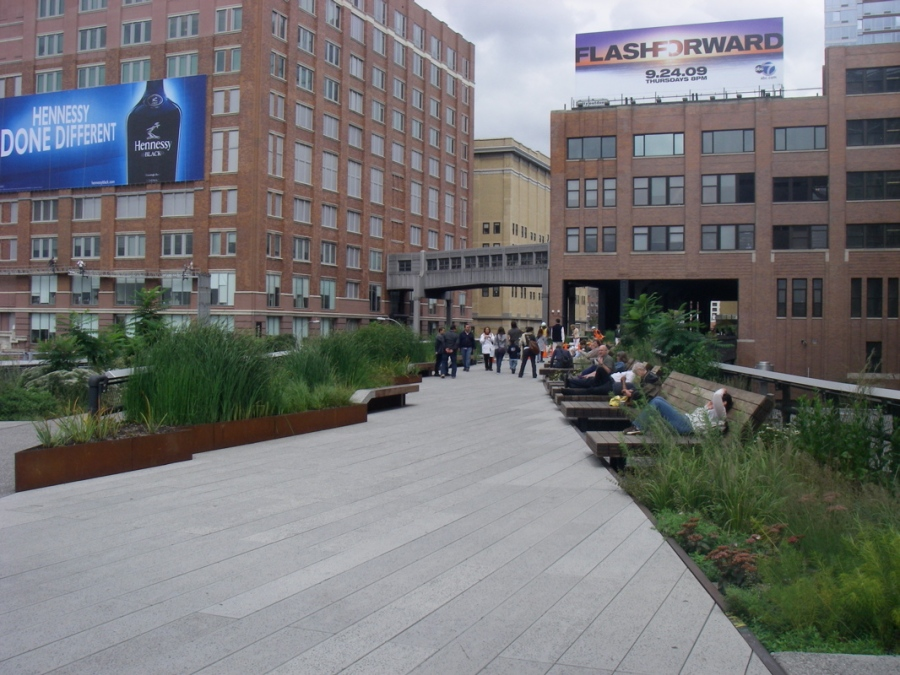 The High Line - A City Park in the heart of the city and built on an old railway line