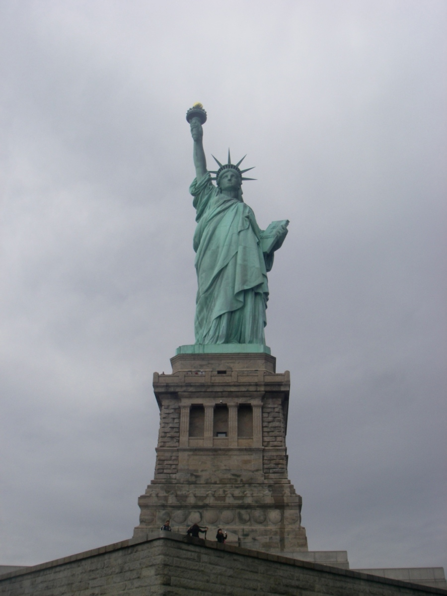 The Statue of Liberty - in all its green glory
