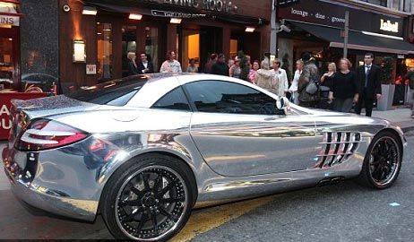 The really unpleasant Mercedes SLR in a fetching chrome finish