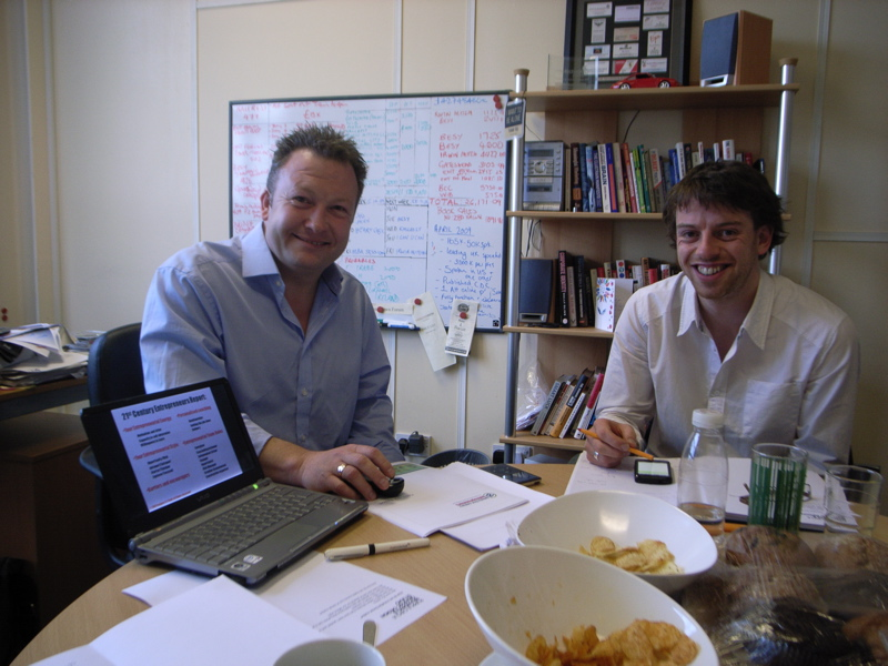 I've done an MBA - Andy, Jonny, crisps and lots of clever thinking in an afternoon MBA