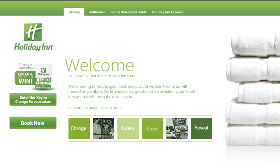 Holiday Inn rebrand - A rebrand borne out of listening to customers