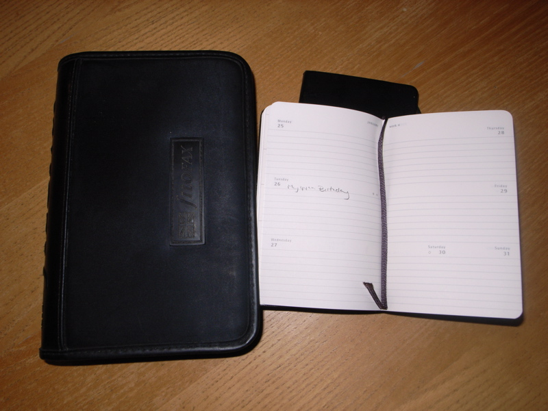 The end of an era as my Filofax is replaced by a Moleskine diary