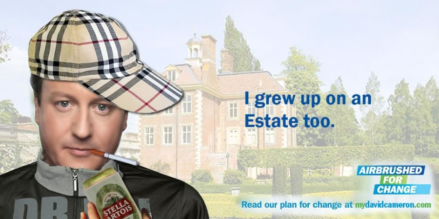 David Cameron - grew up on an estate