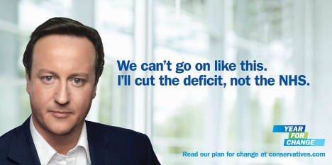 David Cameron, Year for Change campaign poster - in al its terrible airbrushed glory