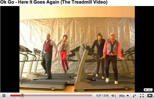 Ok Go 'Treadmills' Video on YouTube