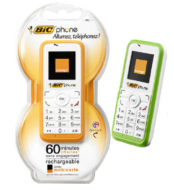 The Bic Phone - an orange disposable wonder for the philanderer or terrorist