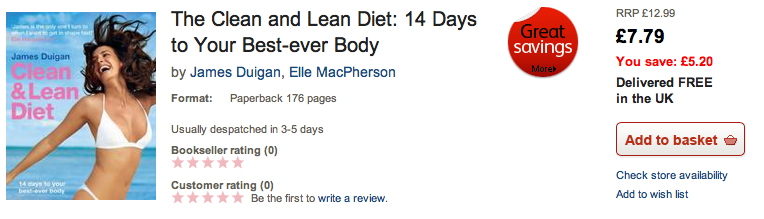 The Clean and Lean Diet 14 Days to Your Best ever Body from Waterstones.com