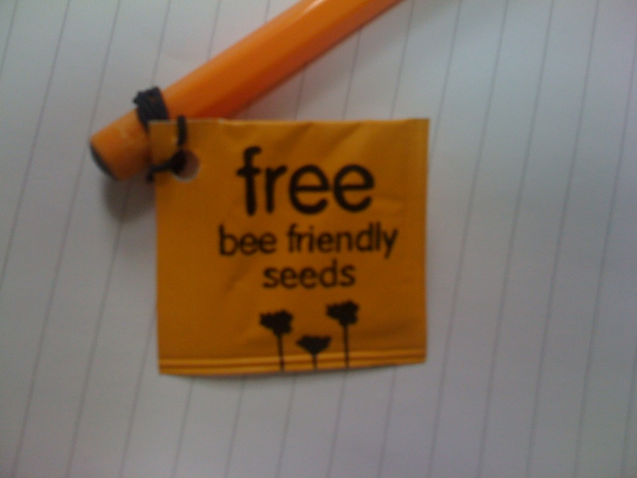 Bees like flowers, so why not grow your own? I like it so much, I stuck it on my favourite Bic pen.