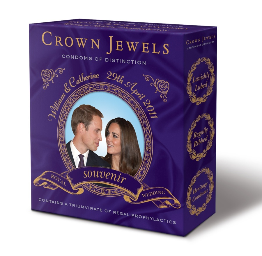 Crown Jewels condoms of distinction - Royal Wedding souvenir