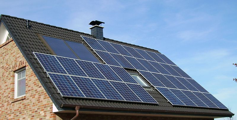 Solar panels on a domestic roof - hardly gorgeous are they?