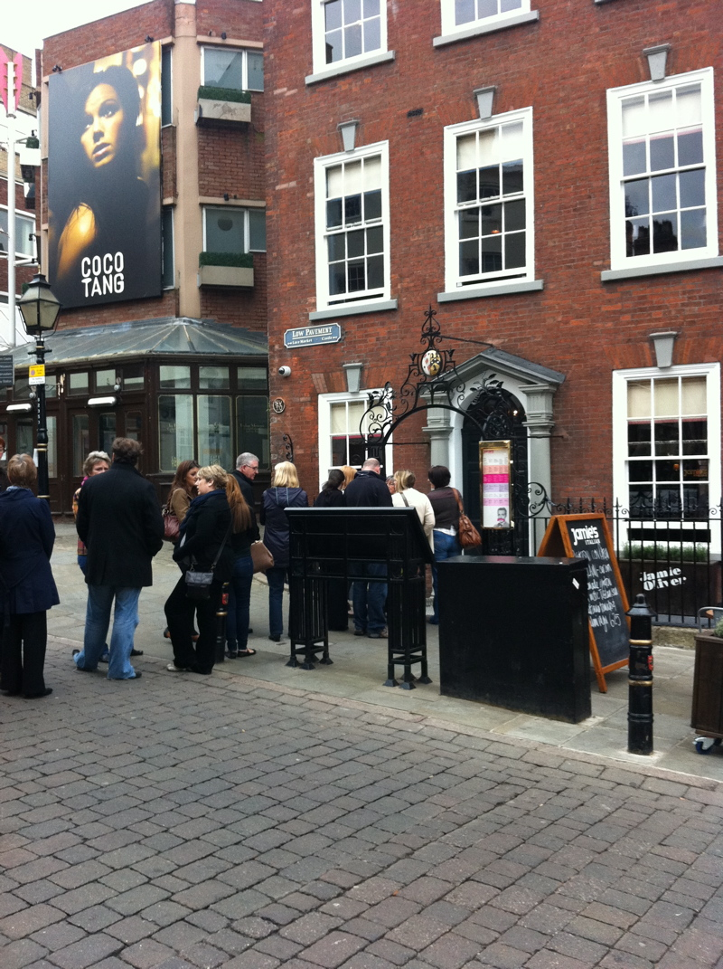 Jamie's Italian Nottingham - A queue for opening