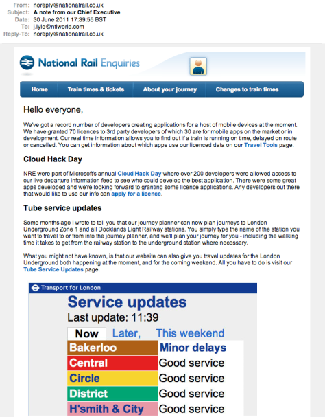 National Rail really don't listen at all - What a pathetic bunch