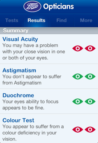 Boots Opticians - Simple eye test app