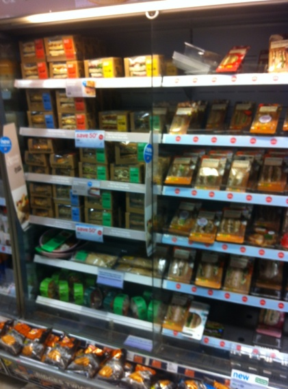 Jamie Oliver's lunch in Boots - Stlll not really selling very many sandwiches
