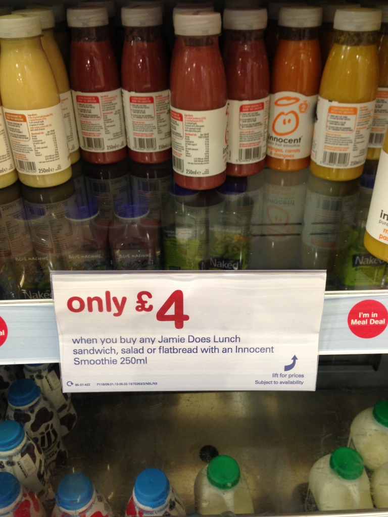 Jamie Oliver in Boots - A sort of meal deal with Innocent