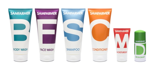 Sam Farmer grooming products