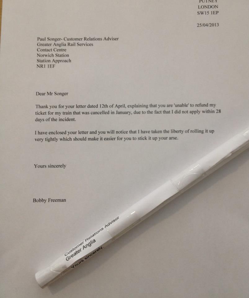 Brilliant Complaint letter