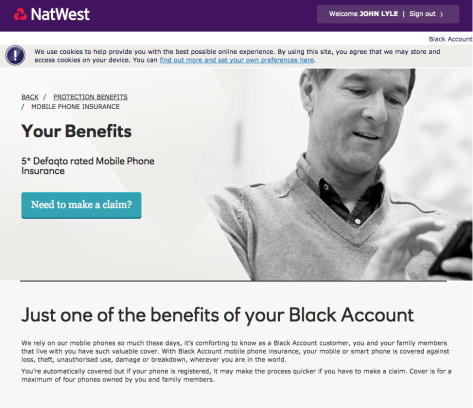 With Natwest as a Black Account customer, you and your family members that live with you have such valuable cover
