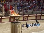 And a load of prisoners are told they have to fight the gladiators as part of the roman show at Puy du Fou