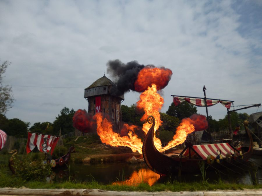 And even bigger explosions at the Puy du Fou Viking show