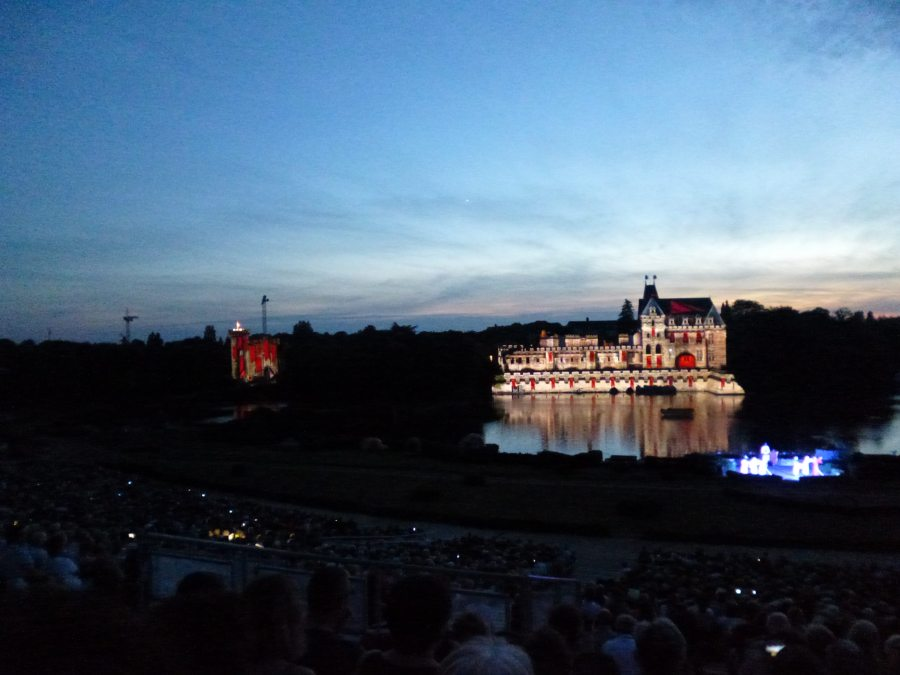 And the Chateau is lit up at the fabulous Cinescenie show at Puy du Fou