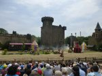 And then the castle rotates to reveal the main houe behind at Puy du Fou