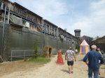 Behind the castle wall at the secret of the lance at Puy du Fou