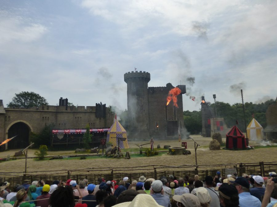 Big explosions at the secret of the lance at Puy du Fou