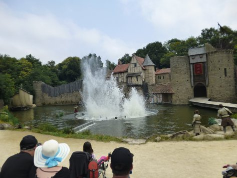 It gets bigger and bigger as the water drains away at Puy du Fou