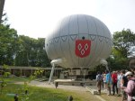 The baloon close up which houses the vultures and many more at Puy du Fou
