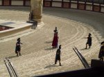The gladiators getting ready to put some bloke to the sword at the Roman Show at Puy du Fou