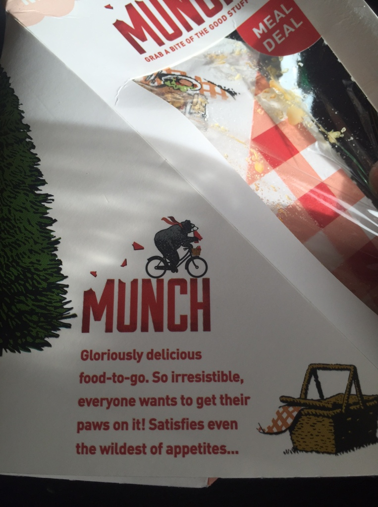 WH Smith Munch Sandwiches with a brand statement that is totally fabricated