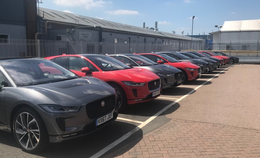 The Jaguar iPace at the Electric Innovation Centre in West Bromwich UK